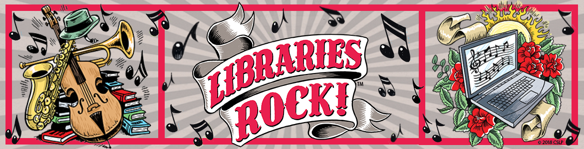 Libraries Rock summer reading banner